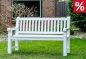 Mobile Preview: gartenbank teakbank weiss 150 cm
