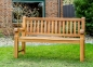 Mobile Preview: teak gartenbank weiss natur 200 cm