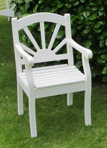Gartenstühle holz weiß  Gartentisch eckige Form 110x140cm - Friesenbank wetterfest Holz weiß ...